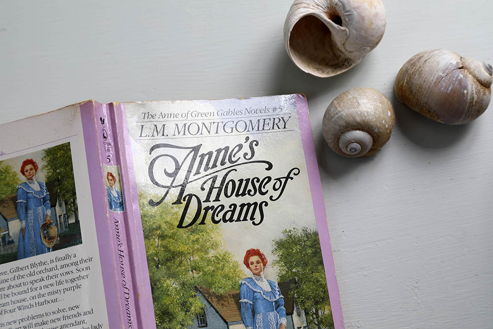 Anne of Green Gables book on table of Summerside Inn Bed and Breakfast