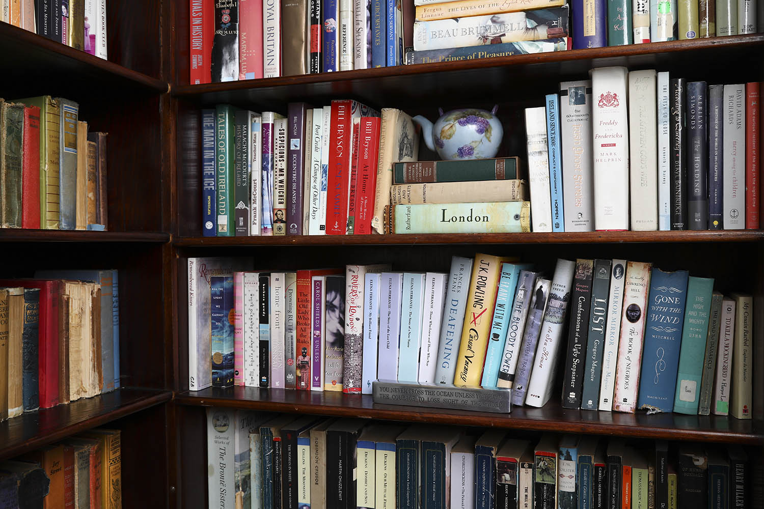 bookcase at Summerside Inn Bed and Breakfast