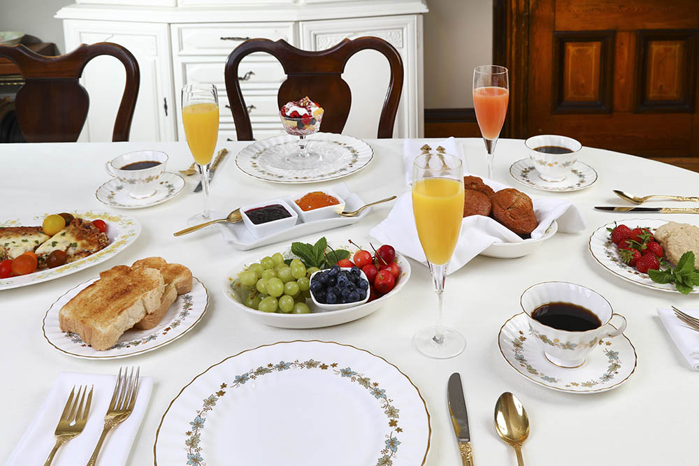 Table Spread at Summerside Inn Bed and Breakfast