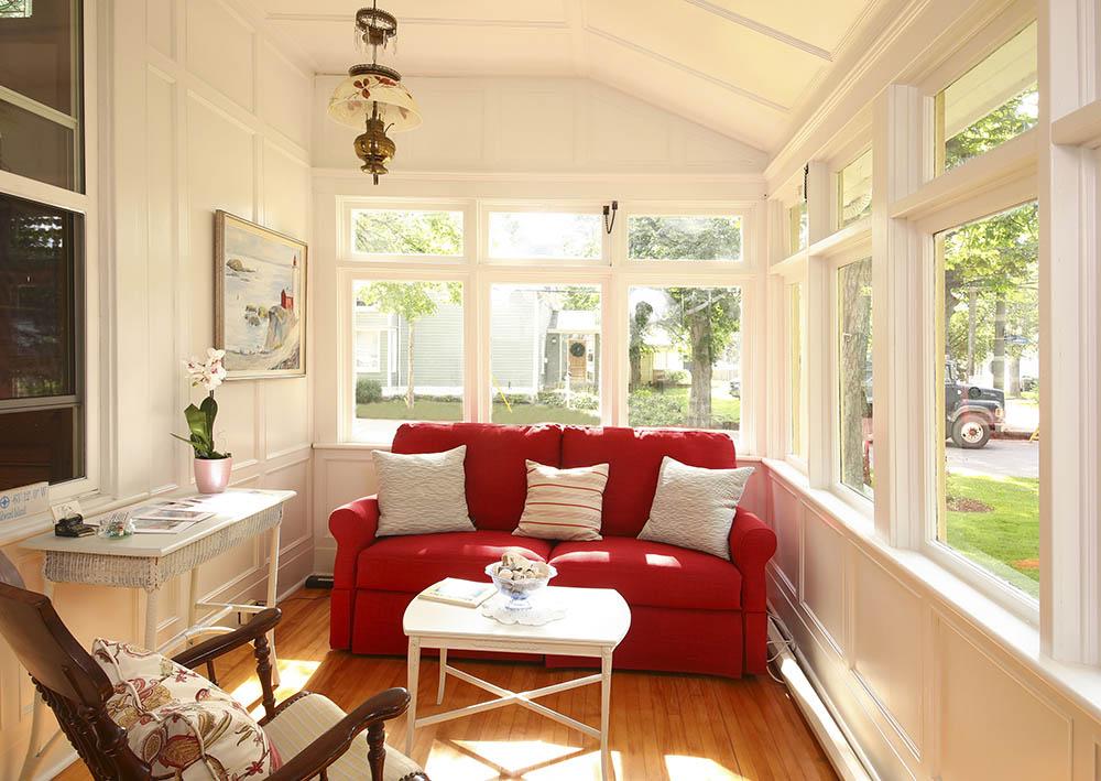Inside Porch of Summerside Inn Bed and Breakfast